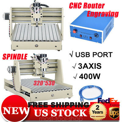 Usb 3 Axis Cnc Router 3040 Engraver Machine 3d Cuttrer Engraving Carving 400w