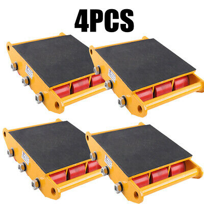 4pcs 15t 33000lbs Industrial Machinery Mover Dolly Skate Roller Heavy Equipment