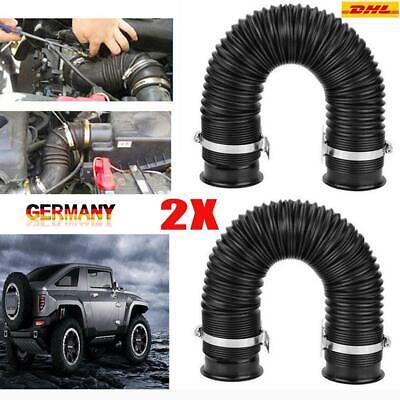 2x 3'' Ø76mm Universal Flexibel Kaltluftschlauch Ansaugrohr Sportluftfilter GP1