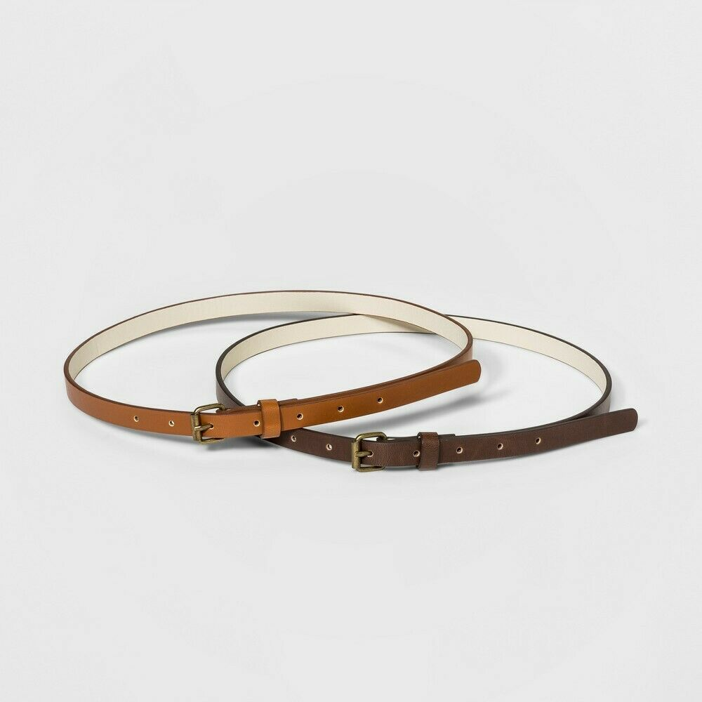 Women's 2 for 1 Belts – Universal Thread Brown/Black XXL Belts