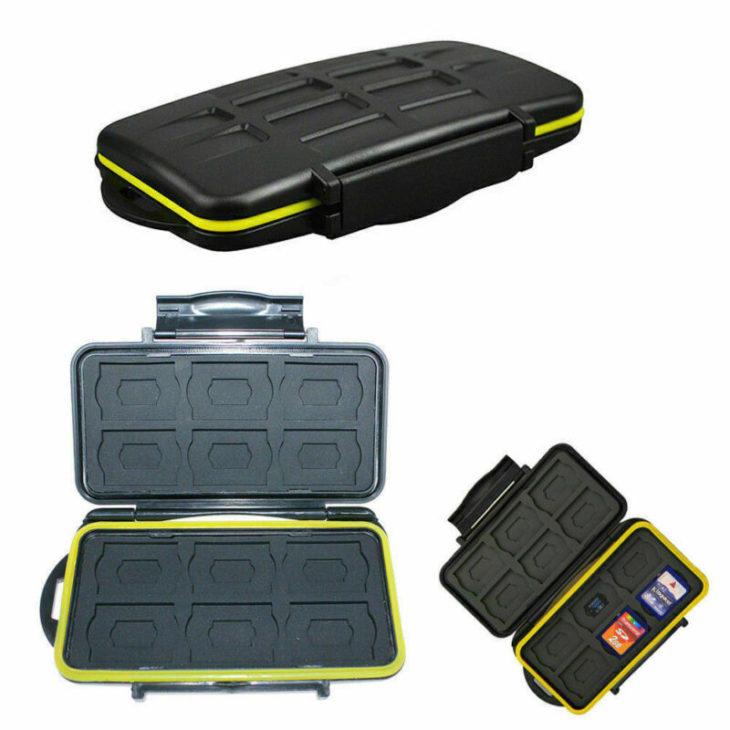 Memory Card Case Holder Storage Fits 12 SD+12 Micro SD TF Ca
