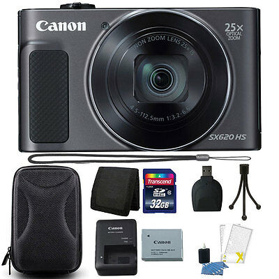 Canon PowerShot SX620 HS 20.2MP 25X Zoom Wifi Digital Camera 32GB Co-conspirator Kit