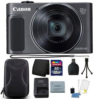 Canon PowerShot SX620 HS 20.2MP 25X Zoom Wifi Digital Camera 32GB Accessory Kit