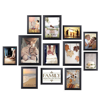 12 Piece Multi-Picture Collage Photo Frame Frames Aperture Art Deco Wall Set