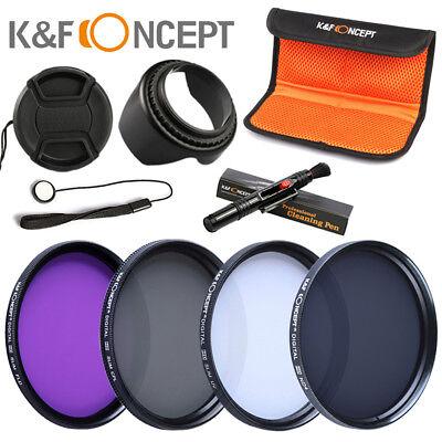 Objektiv Filterset UV ND4 Filter 58mm CPL FLD Graufilter für Canon Nikon Kamera