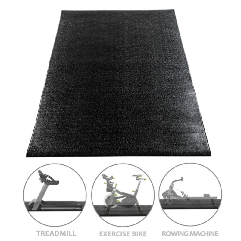Exercise Treadmill Bike Mat Floor Protector Pad Non-Slip Gym Equipment 2 Size