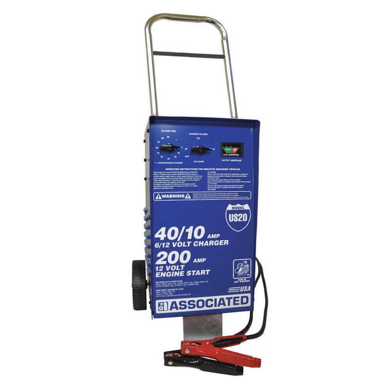ASSOCIATED EQUIP US20 Battery Charger/Starter,40/40/10A,120VAC