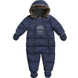 New Timberland baby boy 9 months/71cm navy blue padded snowsuit