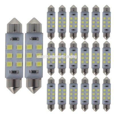 578 Series (20x 6000K White 42MM 41MM 578 212-2 Car Festoon LED Interior Map Light Bulb )