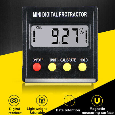 Digital Lcd Inclinometer Level Box Protractor Angle Finder Bevel Gauge Magnet Us
