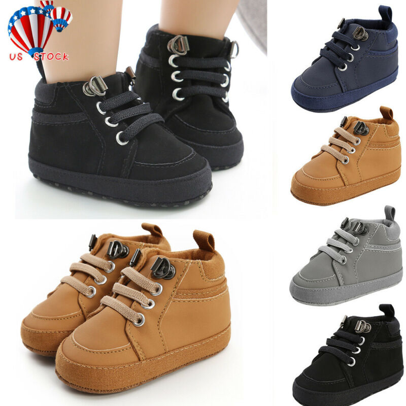 Baby Girl Boys Shoes Solid Cross-tied Fashion Toddler First
