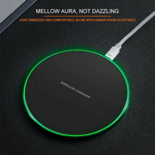 US Fast 15W Qi Wireless Charger Charging Pad Mat For Samsung