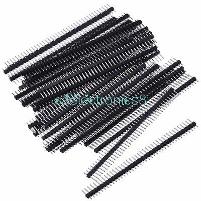5pcs New 40pin 2.54mm Single Row Straight Male Pin Header Strip Pbc Ardunio