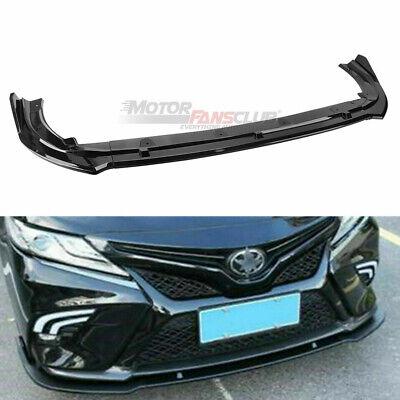 For Toyota Camry  2018-19 SE XSE JDM Style Gloss Black Front Bumper Lip Splitter