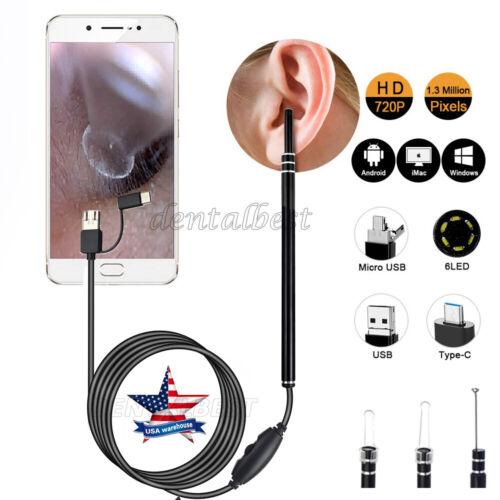 USB Ear Camera Scope Digital Otoscope Earwax Removal Kit Ear Wax Cleaning Tool