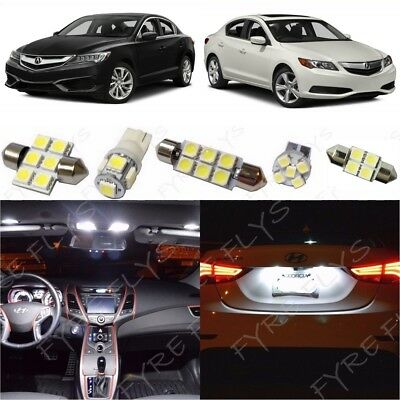 12x White LED Interior Lights Package Kit for 2013-2018 Acura ILX +Tool AX1W