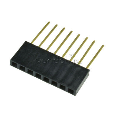 10pcs 2.54mm Pitch 8 Pin Single Row Stackable Shield Female Header For Arduino