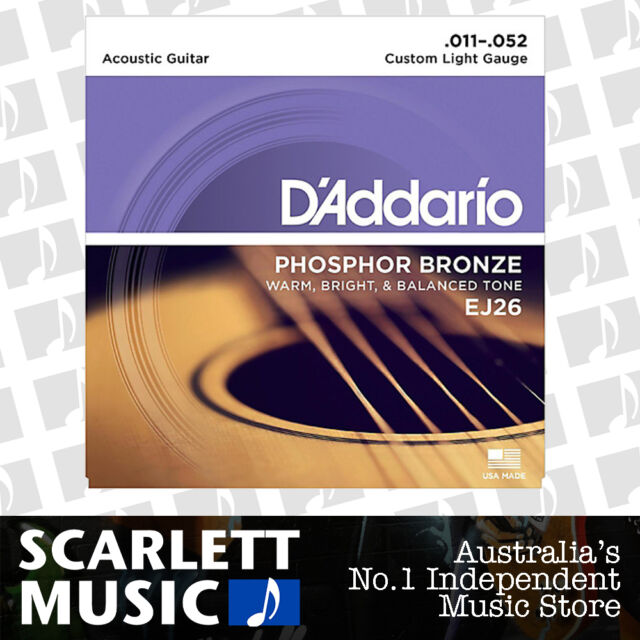 D'Addario EJ26 Phosphor Bronze Custom Light Acoustic Strings 11-52 Daddario