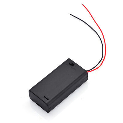 2x New 2 Aa 2a Battery 3v Plastic Holder Box Case With Onoff Switch Black Hq