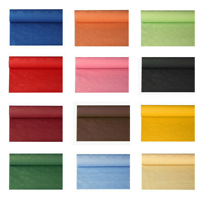 Tischdecke Damastprägung 8x1,2m Große Farbauswahl Tischtuch Partydeko