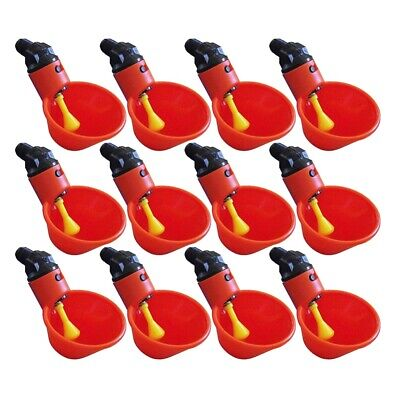12pcs Automatic Chicken Drinker Poultry Drinking Dispenser Water for Pigeons