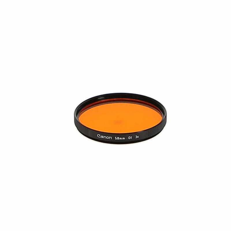 Canon 58mm Orange 1 Black Ribbed Filter (Lenses & Filters) - (EX)