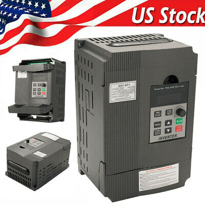 2.2kw Variable Frequency Drive 220v 12a Single To 3 Phase Vfd Inverter Us O2h9