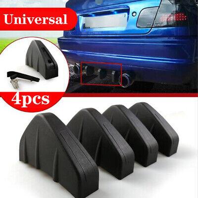 4Pcs Rear Bumper Fins Spoiler Wing 4 Lip Splitter Black Matt Look Accessories