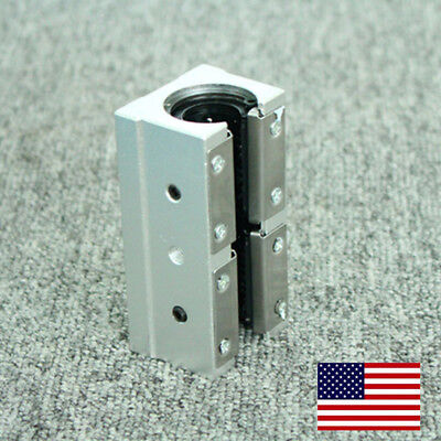 US Stock SBR20LUU 20mm Router Motion Bearing Block Unit  For CNC 3D Printer