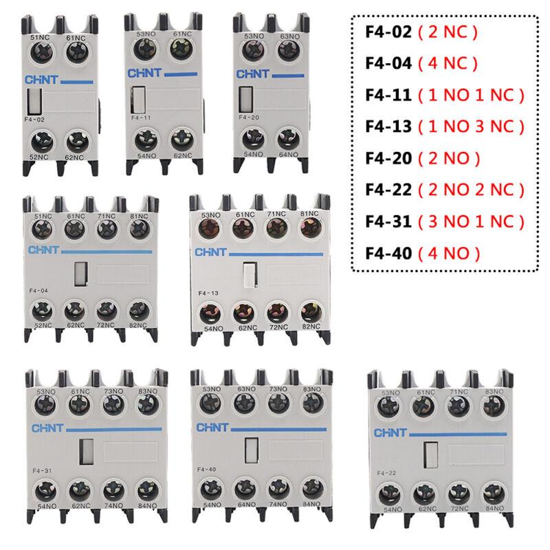 Normal Open/Close F4 Auxiliary Contactor Blocks NO NC Fit for CJX2 AC Contactors