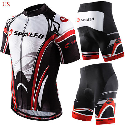 Cycling Clothing Set Men Bike Shirts Pockets Bicycle Shorts Gel Padded MTB Gear