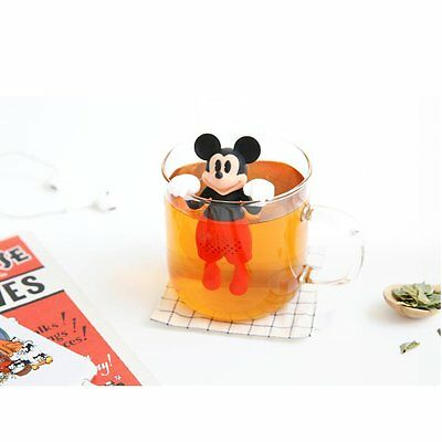 Disney Mickey Mouse Silicone Tea Infuser Leaf Strainer Filter Diffuser 1PC