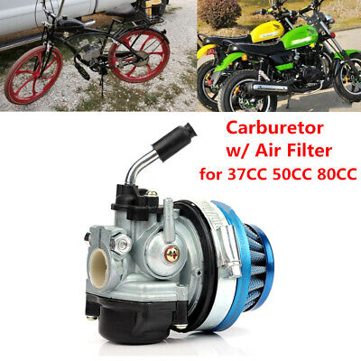 Carburetor With Air Filter For Motorcycle Bike 37CC 50CC 80CC Motorized Bicycle