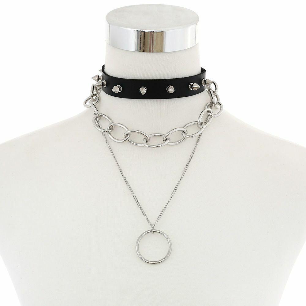 Collar Necklace Transparent Punk Choker Clear Heart Round Women Adjustable New