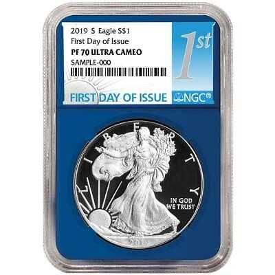 2019-W Proof $1 American Silver Eagle NGC PF70UC Flag ER Label Retro Core