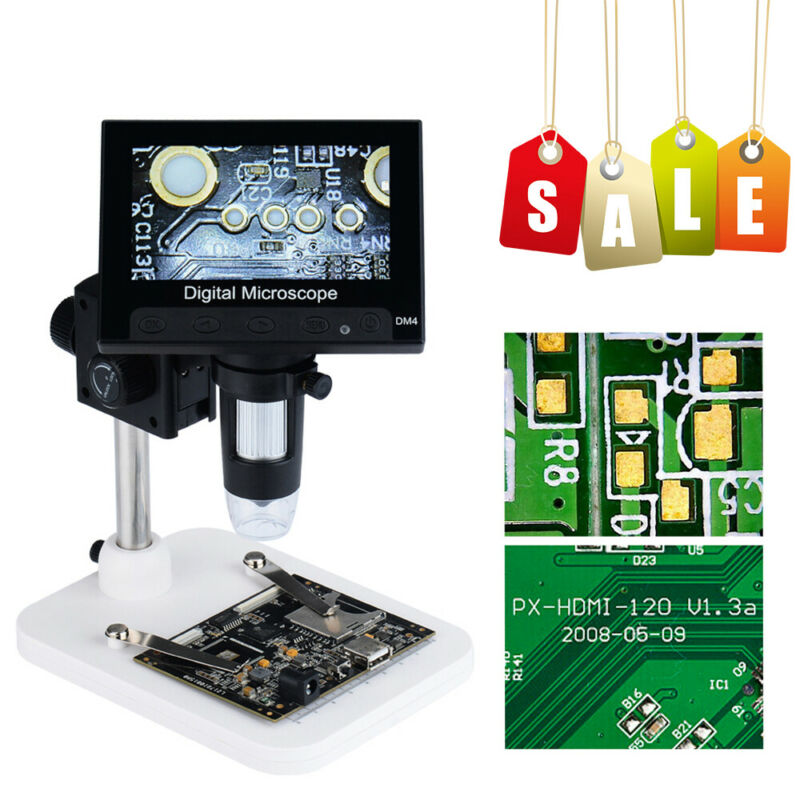 "4.3"" 1000X HD LCD Monitor Electronic Digital Video Microscope LED Magnifier Best"