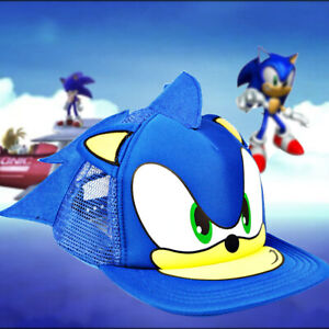Cute Boy Sonic The Hedgehog Cartoon Youth Adjustable Baseball Hat Cap Blue For Boys Hot Selling Cap Kids Gift Cosplay Damenmode