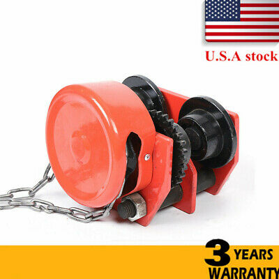 1 Ton Push Beam Track Roller Trolley Heavy Loads Monorail Car With Chain Beams