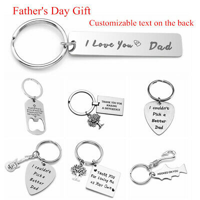 Custom Personalised Key Chain Keyring Stainless Steel Keychain Father's Day Gift](Personalized Keys)