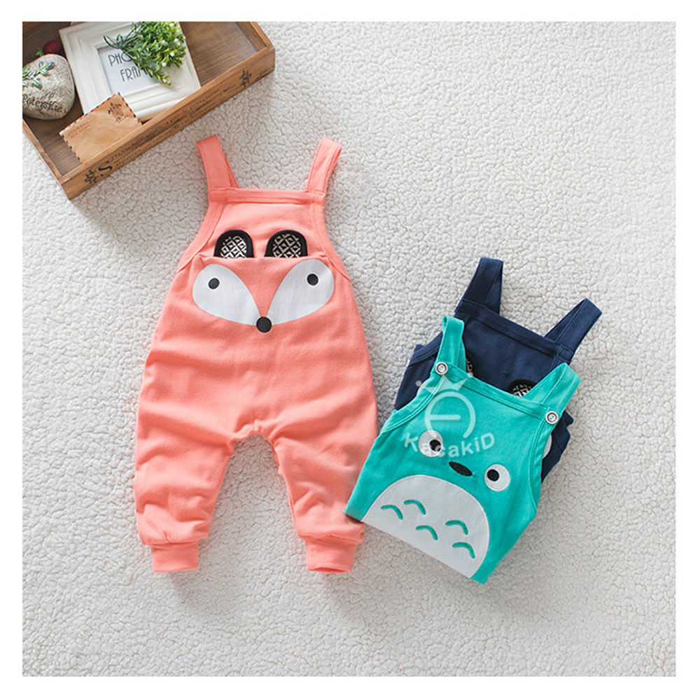 Baby Boy Girl Suspender Pants Trousers Bib Overalls Outfits