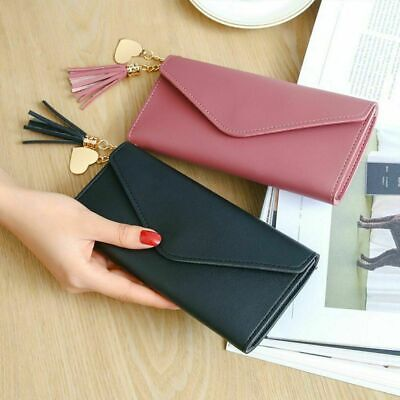 Womens Lady Girls Clutch Envelope Long Purse Leather Handbag Wallets Card Holder