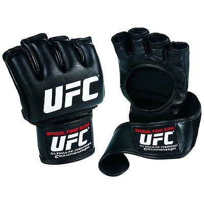 Leather Wrist Wrap Grappling Gloves - Official UFC Fight Gloves Leather MMA Boxing Training Grappling Wrist Wrap