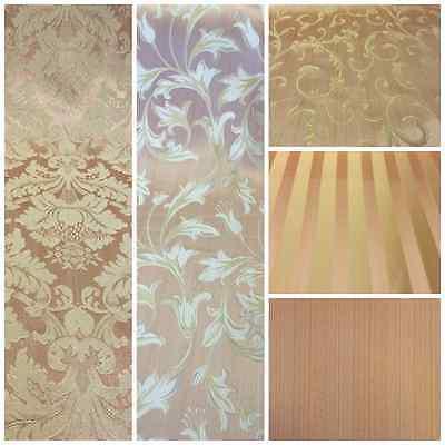 Pink/Gold Damask Jacquard Brocade Fabric 118