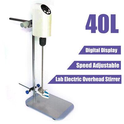 40l Lab Electric Overhead Stirrer Mixer Agitator Homogenizer W Digital Display
