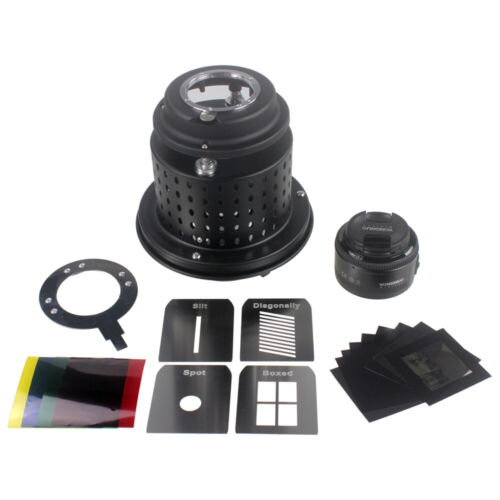 Focalized Optical Snoot with Lens Conical Snoot for LED Video Light Flash Light