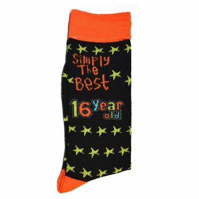 Simply The Best Age 16 Year Old Socks Novelty Christmas Birthday Gift