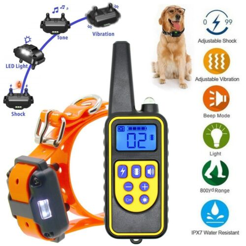 Rechargeable 2600 FT Remote Dog Training Shock ...