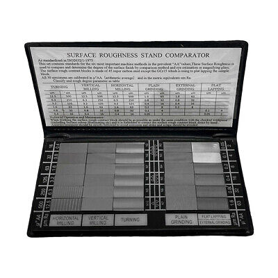 30 Pc Specimen Surface Roughness Comparator Composite Pocket Set