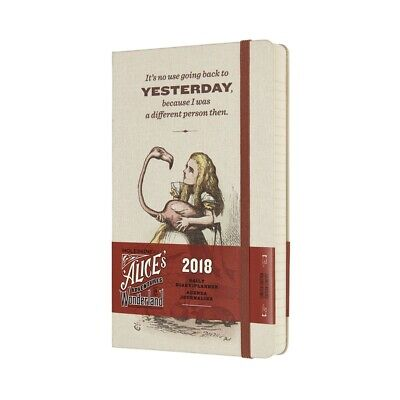 MOLESKINE AGENDA GIORNALIERA 12 MESI LIMITED EDITION ALICE IN WONDERLAND