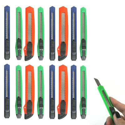 16 Knife Utility Box Cutter Retractable Snap Off Lock Razor Sharp Blade Tool !! Snap Off Blade Box Cutter